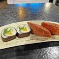 Sushi und vegetarische Sushi