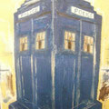"Police box on Buchanan Street, 10"" x 5"". No longer available."