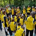 Briefing im Park