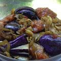 秋鮭と茄子の黒酢マリネ