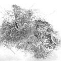 """ Radiations"", 15 x 20 cm, eau forte, 2015"