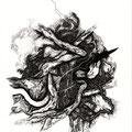 """""""Dehors"""", 42 x 29,7cm, 2014"""