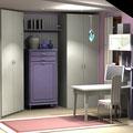 Cameretta in mansarda - armadio e scrivania