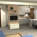 Quinta in muratura con tv, davanti alla cucina