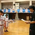 3位(刈谷南中学校)への賞状授与