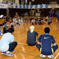 競技の説明をする稲井選手