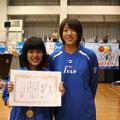 MVPを獲得した若園中学校 野島結衣さん