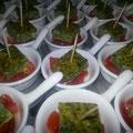 Spinat Fetakäseomlette auf Tomatenragout