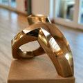 o.T. III - 2019 - Bronze hochglanzpoliert  - 34 (h) x 40 (b) x36 (t)  cm