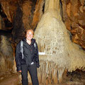 Huge stalagnate 200m below earth's surface