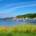 Quiet harbor of Rathlin Island
