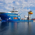 153m offshore working boat (18'150t) with 28'500 hp