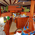 Big mess inside the boat everywhere