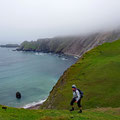 Hiking to Sandness Hill