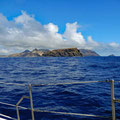 Approaching the island of Porto Santo