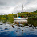 Lovely and very secure anchorage in Loch Spelve