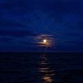 Moonrise between Fair Isle and Shetland