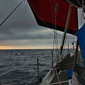 Leaving Lerwick early in the morning and heading into the sunrise