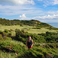 Strolling through the sand dunes along the coast of Anholt