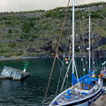 Damaged and one of the least protected ports on the Azores
