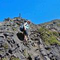 Hiking to the peak of Pico