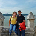 On the Torre de Belém towards the river Tejo
