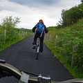 The next day we unloaded our cycles and went of to the trail of whiskey-distilleries