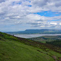 "View from Knocknarea to the ""house mountain"" of Sligo, the Ben Bulben"