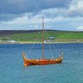 Viking boat replica for festivals