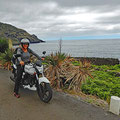 Exploring the island by motorbike