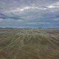 Wind drifting sand like snow