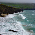 Beach on Dunmore Head with dangerous down sourge