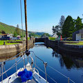 Heading to the highest part of the canal - 32m above sea level