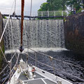 The first of eight locks (Neptune's staircase)