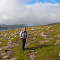 Heading for Ronas Hill - the highest point on the Shetland Islands