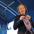Leaving the skipper with spare time for knitting, before the wind got stronger and the waves alarmingly steep (see next blog)