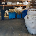 Stopping by a wool factory to buy some wool for knitting.