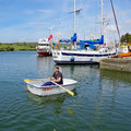Testing the new dinghy (and rowing in a circle :-)