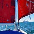 Downwind sailing with weak wind