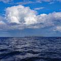 Heading against the tide toward Rathlin Island