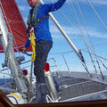 Reefing and opening the sails several times a day