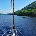 Navigating over Loch Oich