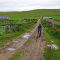Dirtroad to Noup Head on the folding bicycle