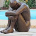 """""""l'homme assis"""" sculpture argile 2013"""