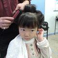 お子様の日本髪も