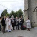 Eglise de la Sainte Vierge de Grosage (inauguration du vitrail) - Photo de Emilie Nisolle