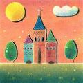 王城の月と雲