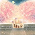 西口公園の夜桜