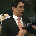 シニアワインアドバイザー藤代さん。今年の山梨ワインについて説明してくださいました。