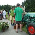 Aufstellung zum Festumzug der 850-Jahr-Feier der Gemeinde Pfaffenwiesbach